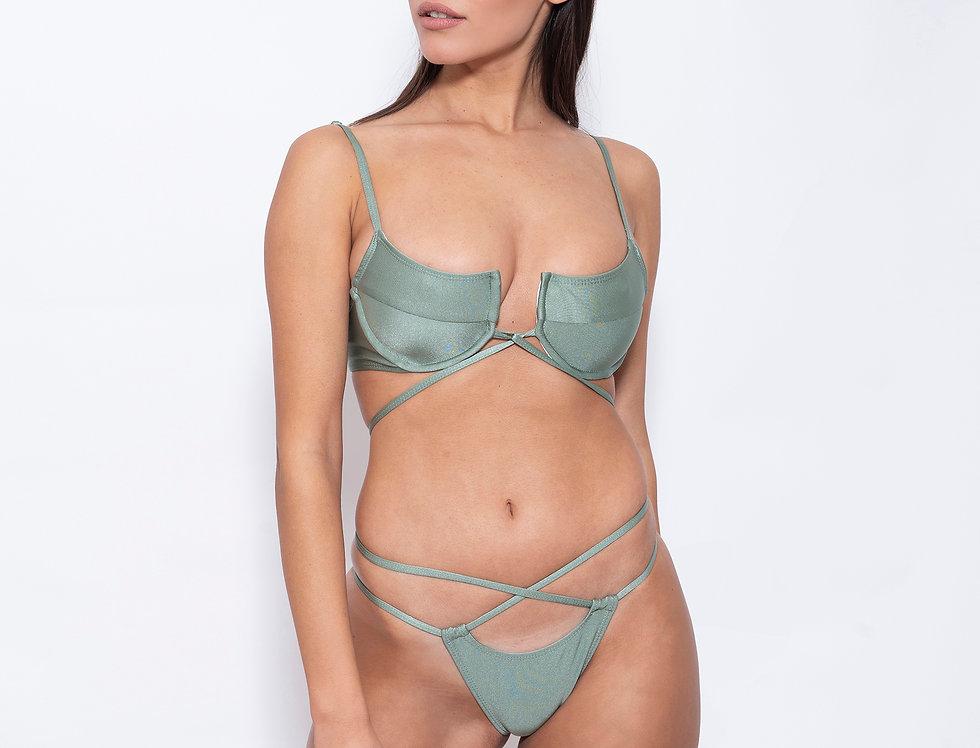 Olive Shear Sis Low Rise Bikini