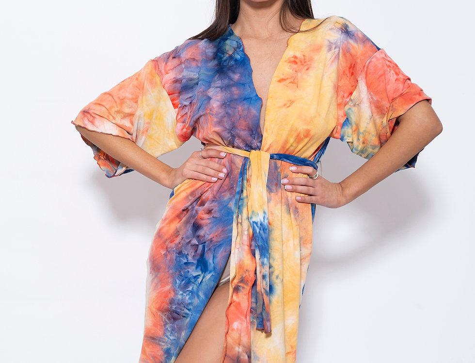 Tropical Tie Dye Kimono