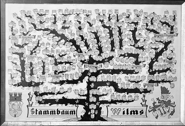 Stammbaum der Familie Wilms: Die Familienhistorie, die bis ins 15. Jahrhundert geht, zeigt die Generationen, die schon früh mit dem Werkstoff Metall beschäftigt hat
