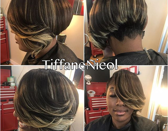 Short sassy hair by #TiffaneNicol #atlantahair #atlantavirginhair #atlantanaturalhair #atlantashorthair #cutlife #atlantahairstylist #atlant