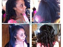 Natural hair silk press #atlantahealthyhairstylist #atlantahairstylist #atlstylist #atlantanaturalhair #atlantasilkpress #atlantahaircare