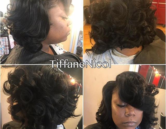 Bob & curls #TiffaneNicol #atlantahealthycare #atlantahairstylist #cutlife #atlantashorthair #atlantanaturalhair #atlantahair #atlantavirgin