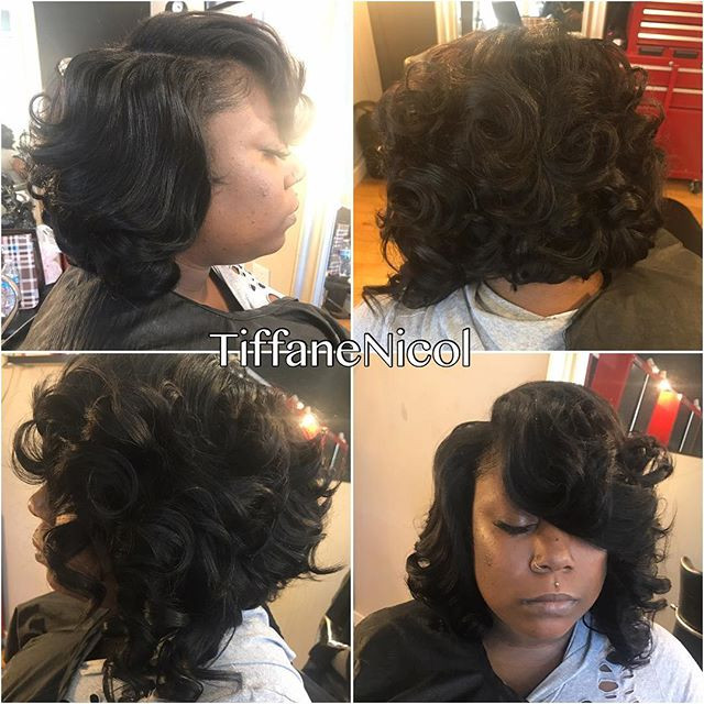 Bob & curls #TiffaneNicol #atlantahealthycare #atlantahairstylist #cutlife #atlantashorthair #atlantanaturalhair #atlantahair #atlantavirgin
