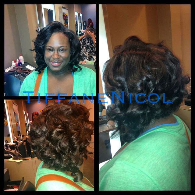 Sewin bob &curl by #TiffaneNicol #atlantahairstylist #atlantasalon #atlantasewin #atlantanaturalhair #atlantahair #atlantabobs #atlantashort