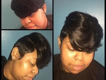 Short cut & style by #TiffaneNicol #atlantahairstylist #atlantahair #atlantashorthair #atlantahaircuts