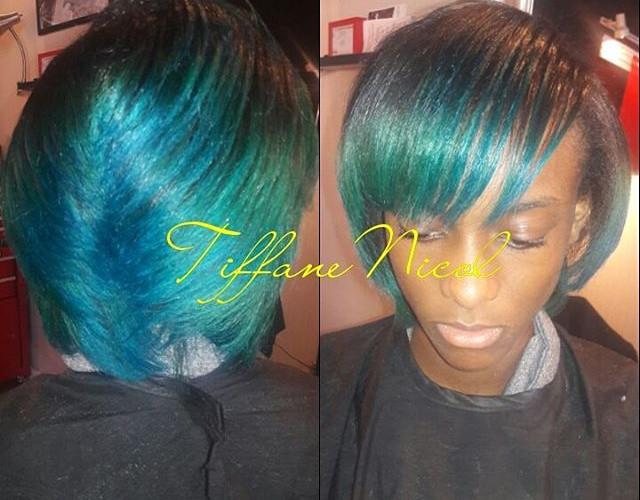Color work and natural hair silk press by #TiffaneNicol #PaintJob #atlantahairstylist #Atlantacolorist