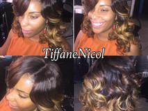 Full Sewin with no hair left out, Lace closure Sewin color & curls! by #TiffaneNicol #lacefrontalsewinatlanta #sewinatlanta #atlclosure #atl