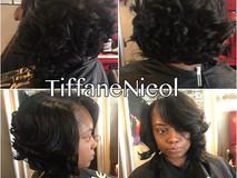 Curled bob by #TiffaneNicol #atlantahairstylist #hairstylist #atlantasewin #atlantaquickweave #atlantahair
