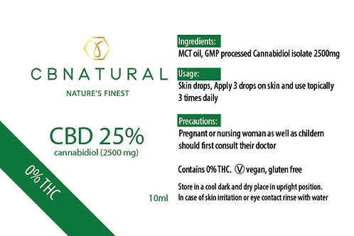Cbnatural 25% | 10ml