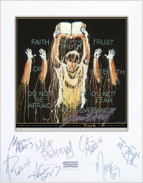Casting Crowns Autographed Truth Print