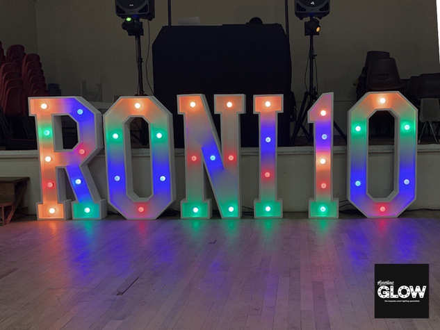 Light Up Letters in Colour