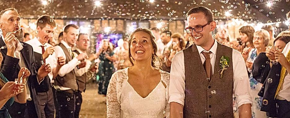 Outdoor Wedding With Festoons