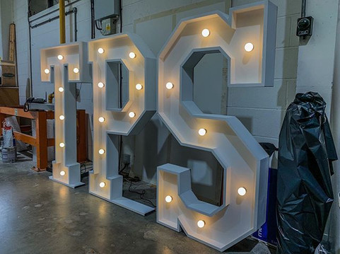 Love these 5ft letters we made for _thep
