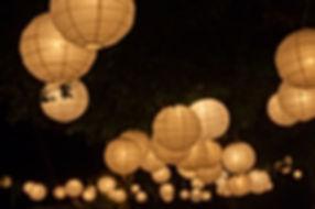 Marvellous Glow Paper Lanterns Hire
