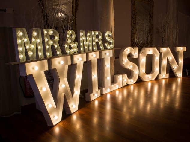 Light Up Surname Letter Lights
