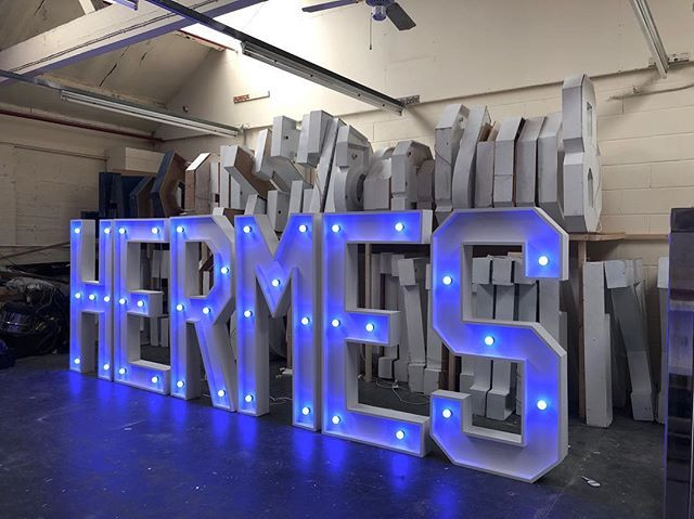 5ft Letters made for a certain courier c