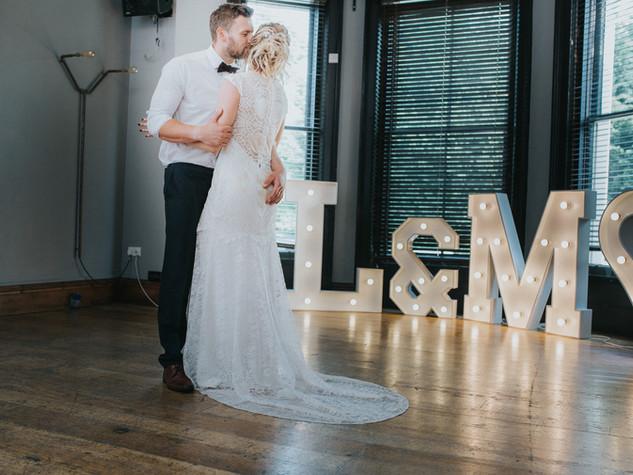 Wedding letters at The Faversham, Leeds