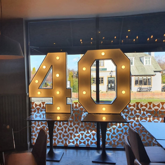 Light Up Numbers For Hire