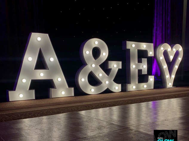 Light Up Initials With Heart