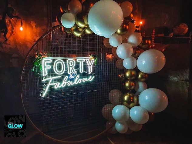 Forty & Fabulous Neon