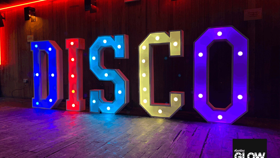 Disco Letter Lights