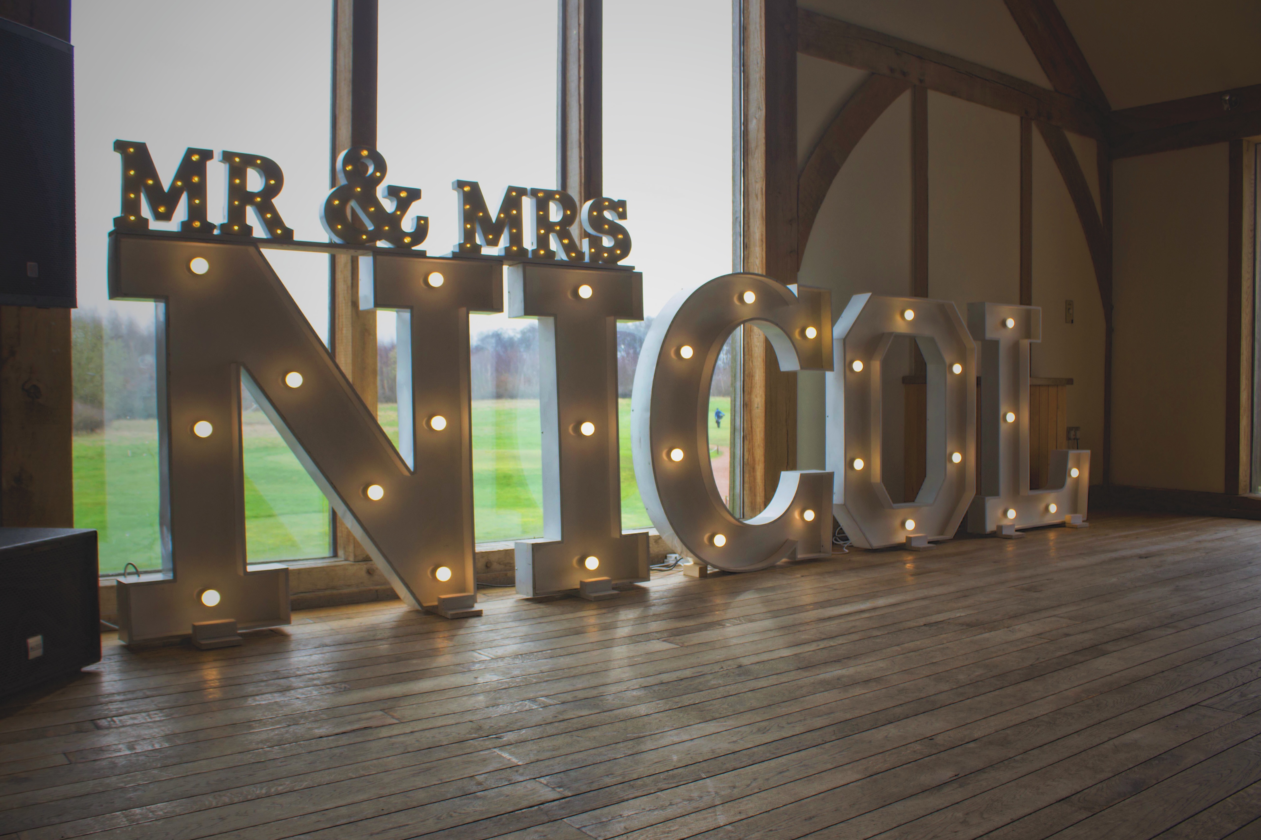 Light Up Letters Hire _ Surname