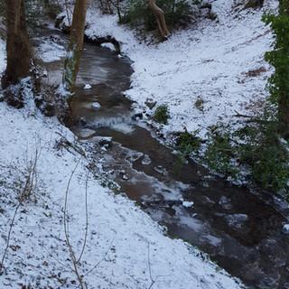 Ice formations in Aultnaskiach Burn by Katy Martin 1
