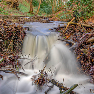 Flowing water in Aultnaskiach Dell