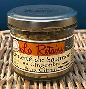 Emietté de saumon au gingembre et au citron