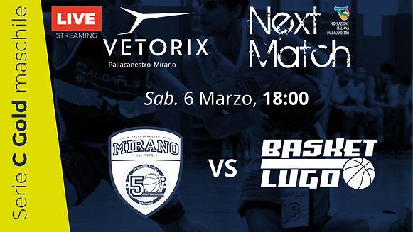 Vetorix Mirano vs Lugo | Sab. 6 Marzo, ore 18:00