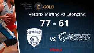 Orgoglio Vetorix, vittoria nel derby col Leoncino