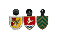 Badges with leather clip