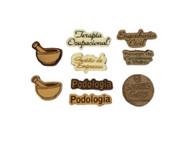 Laser engraved wood pins
