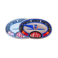 Self-adhesive badges