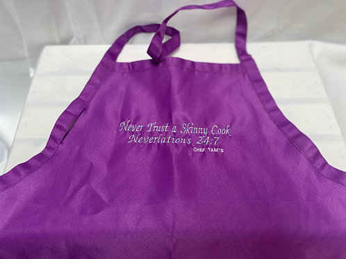 Never Trust A Skinny Chef Apron