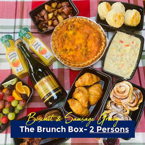 Biscuits & Sausage Gravy Brunch Box- 2 Persons
