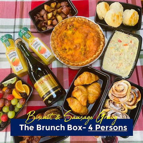 Biscuits & Sausage Gravy Brunch Box- 4 Persons