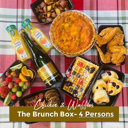 Chicken & Waffles Brunch Box- 4 Persons