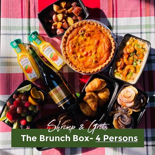 Shrimp & Grits Brunch Box- 4 Persons