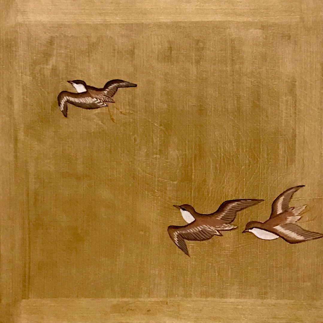 Sparrows On Gold
