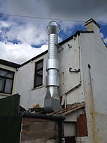 Duct pipe fitting for commercial restaurant