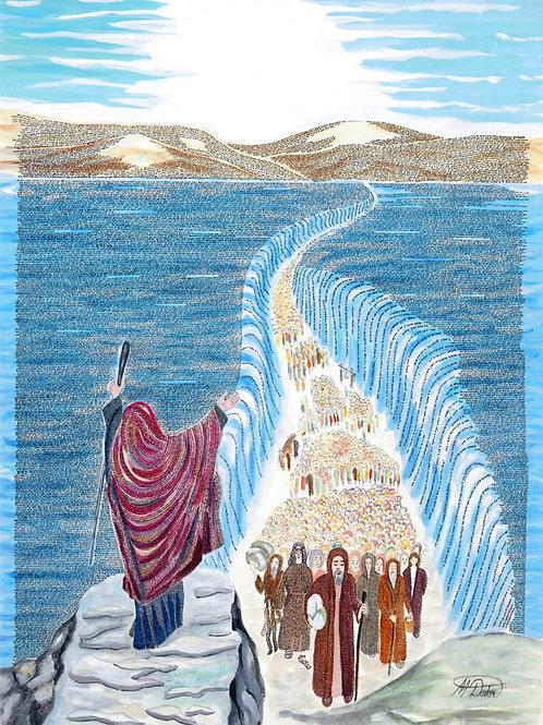 Micro calligraphy Entire Book of Exodus Jewish art