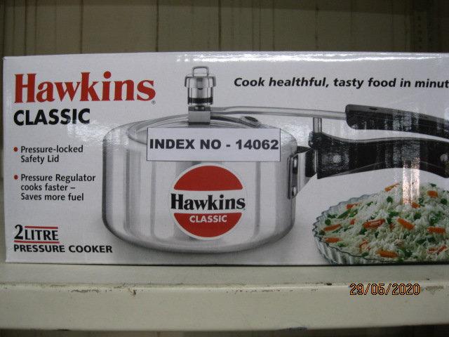 HAWKINS PRESSURE COOKER CLASSIC 2 LTR W/O SEP