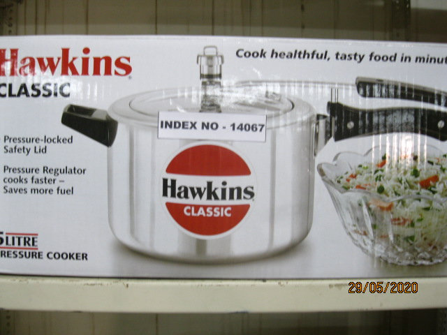 HAWKINS PRESSURE COOKER CLASSIC 5 LTR W/O SEP