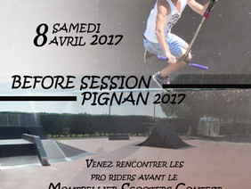 Before Session Pignan 2017