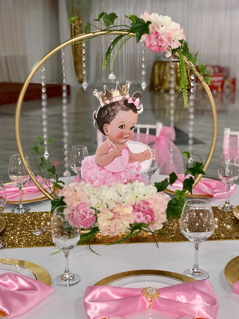 Customized Princess Themed Centerpiece