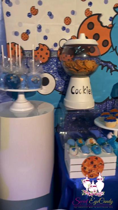 Cookie Monster Themed Dessert Table