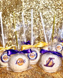 Lakers Themed Candy Apples