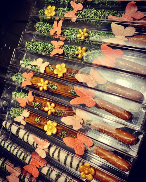Secret Garden Themed Chocolate Dipped Pretzel Rods