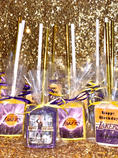 Lakers Themed Chocolate Covered Rice Krispies